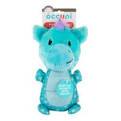 Puzzle Pal Blue Unicorn Dog Toy