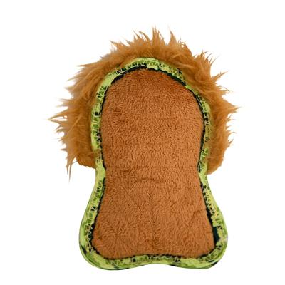 Xtreme Seamz Orange Lion Dog Toy, Small