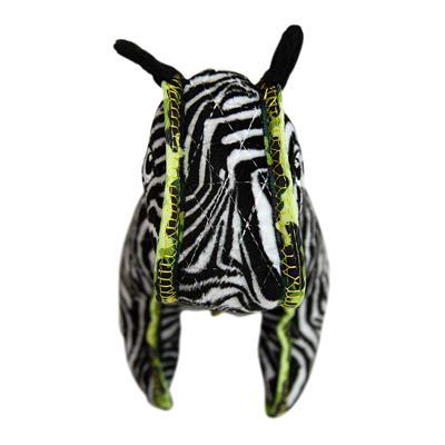 Xtreme Seamz Zebra Dog Toy, Medium