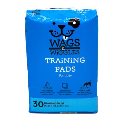 """Wags & Wiggles 21"""" x 21"""" Training Pad - 30 Count"""