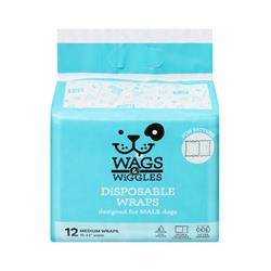 Wags & Wiggles Male Wraps - 12 Packs