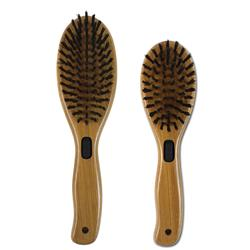 Combo Brush with Boar Bristles & Stainless Steel Pins