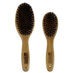 Oval Pin Brush with Natural Boar Bristles