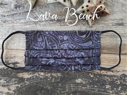 Reusable Fabric Face Mask with Pocket for Filter - Lava Beach Design
