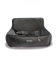 LARGE CAR SEAT QUILTED DARK GRAY