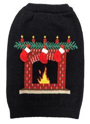 fabdog Ugly Sweater Fireplace