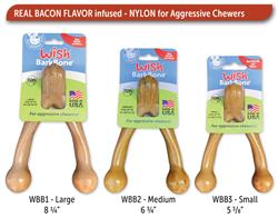 Wish BarkBone Nylon Chew - Real Bacon Flavor