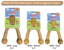 Wish BarkBone Nylon Chew - Peanut Butter Flavor