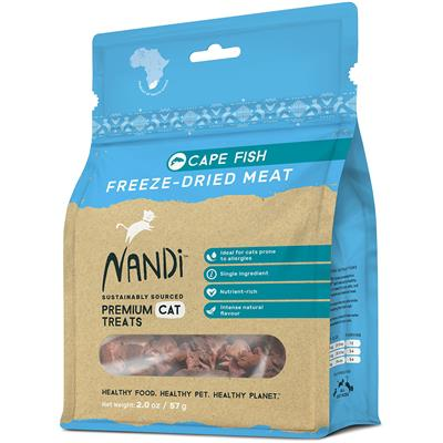 Nandi Cape Fish Freeze-Dried Meat Cat Treats - 2oz. Bags