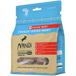 Nandi Nguni Beef Freeze-Dried Meat Dog Treats - 2oz. Bags
