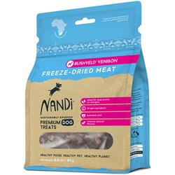 Nandi Bushveld Venison Freeze-Dried Meat Dog Treats - 2oz. Bags