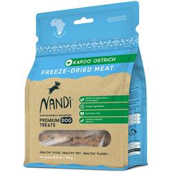 Nandi Karoo Ostrich Freeze-Dried Meat Dog Treats - 2oz. Bags