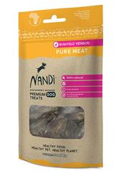 Nandi Bushveld Venison Pure Meat Treats - 3.5oz. Bags