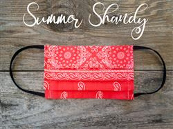 Reusable Fabric Face Mask with Pocket for Filter - Summery Shandy Design
