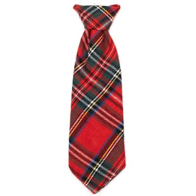 RED PLAID III BOW TIE