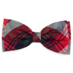 RED/GREEN/NAVY PLAID BOW TIE