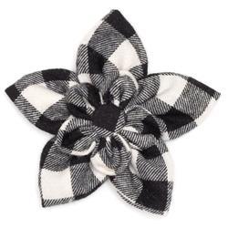 BLACK/OFF WHITE BUFFALO FLOWER