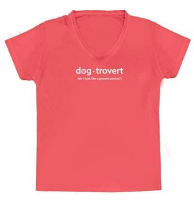 Dog-trovert Ladies V-Neck T-shirt