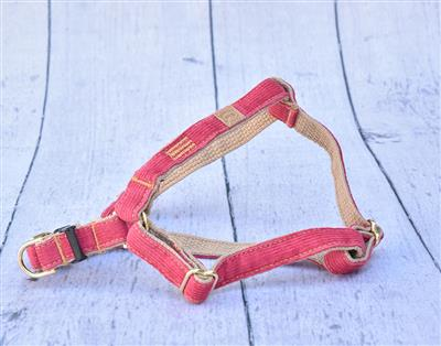 Pink Corduroy Collars, Leads, and Harnesses