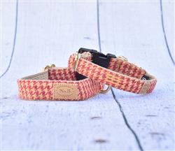 Rosewood Houndstooth Collars, Leads, and Harnesses