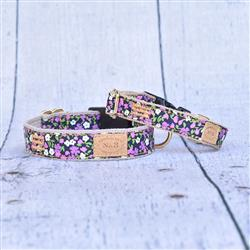 Lilac Floral Collars, Leads, and Harnesses