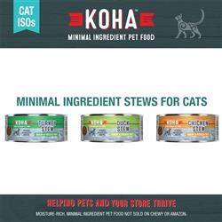 KOHA Stew Wet Cat Food - 5.5 oz Cans - Minimal Ingredient Diet ISO