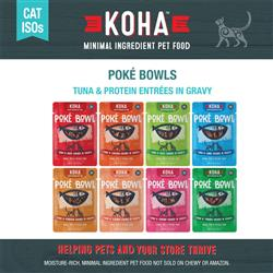 KOHA Poké Bowl Entrée in Gravy for Cats - 3 oz Pouches - Minimal Ingredient ISO