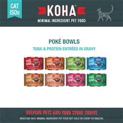 KOHA Poké Bowl Entrée in Gravy for Cats - 5.5 oz Cans - Minimal Ingredient ISO - COPY