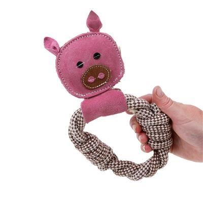 Peggy Pig Rope Ring - Country Tails Dog Toy