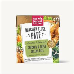 BUTCHER BLOCK PÂTÈ - CHICKEN & SUPER GREENS (6 x 10.5 oz boxes)
