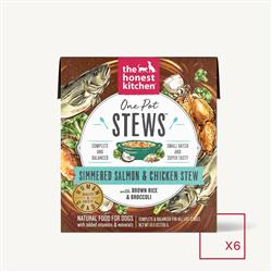 ONE POT STEWS - SIMMERED SALMON & CHICKEN STEW WITH BROWN RICE & BROCCOLI (6 x 10.5 oz boxes)