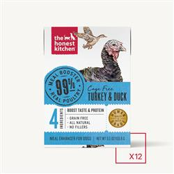 MEAL BOOSTER - 99% TURKEY & DUCK (12 x 5.5 oz boxes)