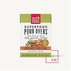 SUPERFOOD POUR OVERS - LAMB & BEEF (12 x 5.5 oz boxes)
