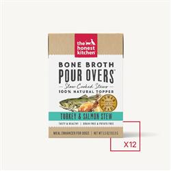 BONE BROTH POUR OVERS - TURKEY & SALMON (12 x 5.5 oz boxes)