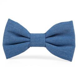 Denim Dog Bow Tie