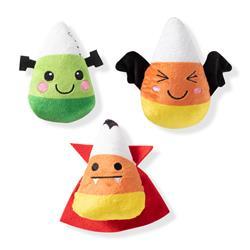 Candy Corns Small Plush Dog Toys - Set Of 3