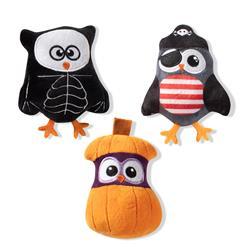 Owl-O-Ween Small Plush Dog Toys - Set Of 3