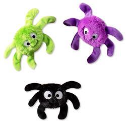 Creepy Crawly Spiders Small Plush Dog Toys - Set Of 3