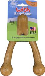 Pet Qwerks Wish BarkBone - Peanut Butter Flavor - For Aggressive Chewers | USA