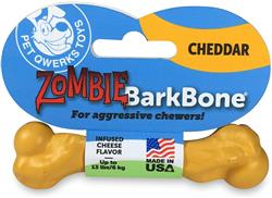 Pet Qwerks Zombie Nylon BarkBone - Cheddar Flavor - For Extreme Chewers
