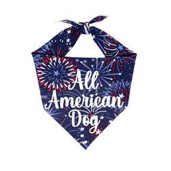 Patriotic Dog Bandana |  All American Dog Bandana | Memorial Day | 4th of July Dog Bandana