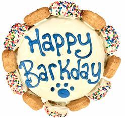 DISPLAY CAKE: Happy Barkday Cake with Gourmutt Bones Blue