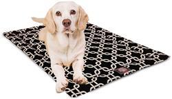 Black Links Crate Dog Bed Mat