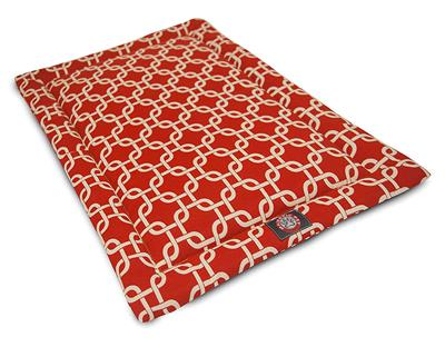 Red Links Crate Dog Bed Mat