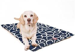 Navy Blue Fusion Crate Dog Bed Mat