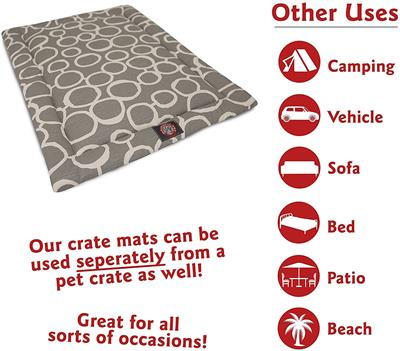 Black Fusion Crate Dog Bed Mat