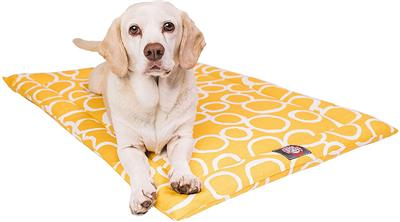Yellow Fusion Crate Dog Bed Mat