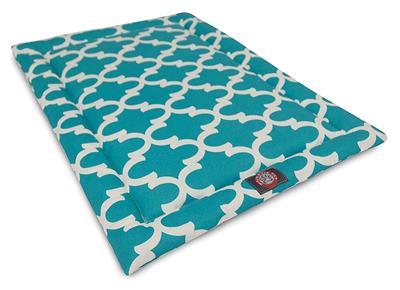 Teal Trellis Crate Dog Bed Mat
