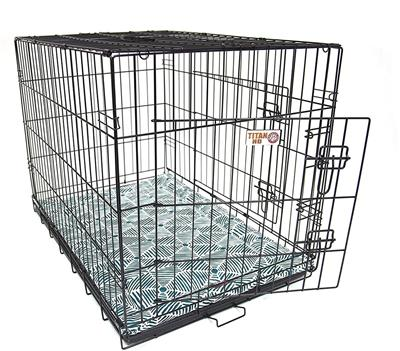 Metallic Charlie Crate Dog Bed Mat