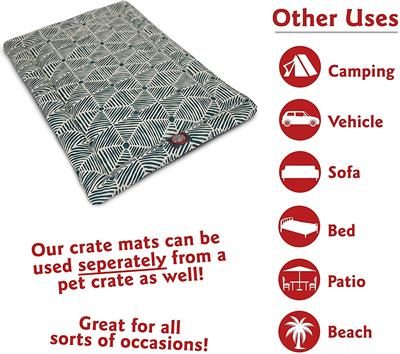 Salmon Charlie Crate Dog Bed Mat